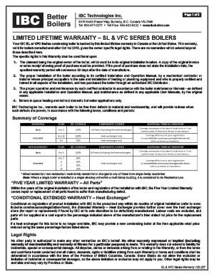 IBC Warranty SL VFC