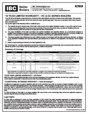 IBC Warranty HC DC